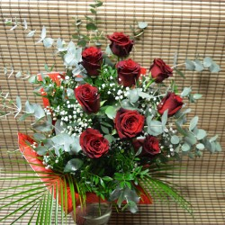 Букет с 9 червени рози