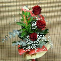 Букет с 3 червени рози