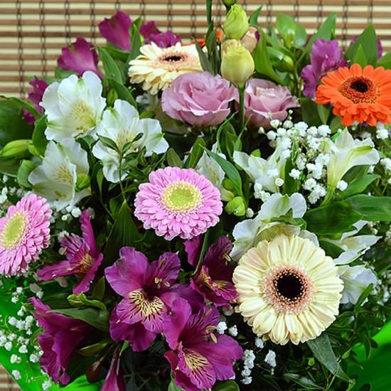 Round colourful bouquet